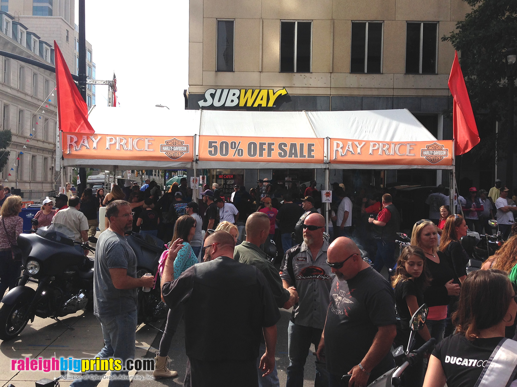 Mesh Banner - Raleigh Big Prints - Ray Price Harley-Davidson Tent Sale
